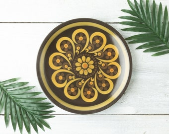 Vintage Mikasa Serving Platter - Colorful Serving Plate - Round Ceramic Platter - Colorful Mid Century - Retro Kitchen - Majorca Stoneware