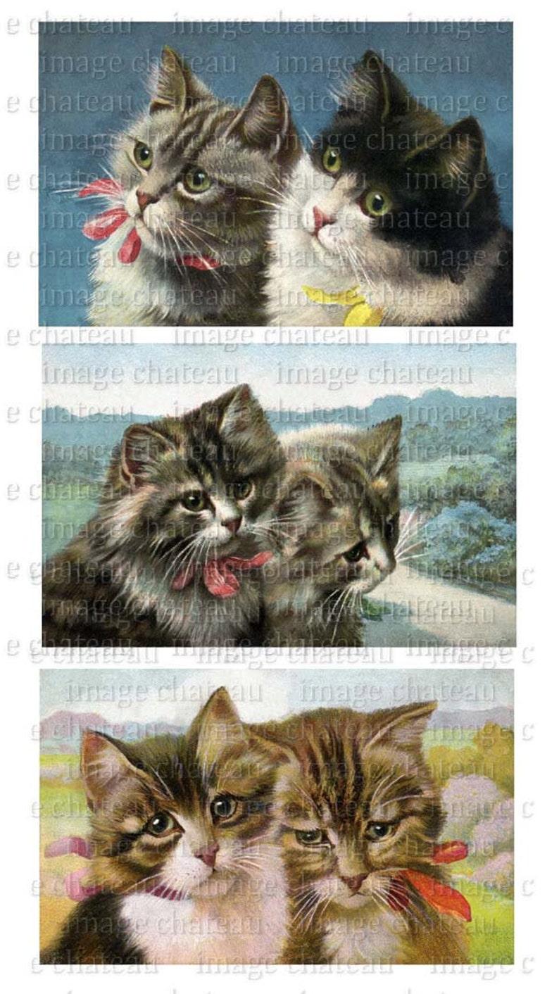 0fd54b79352d TABBY CATS Kittens Cats Printable DIGITAL Download Kitties