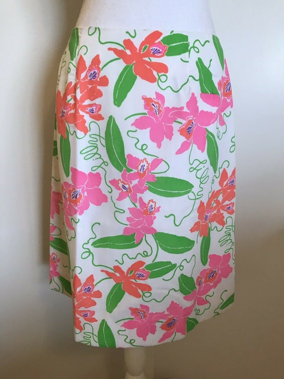 THE LILLY Vintage Lilly Pulitzer Skirt Floral Spel