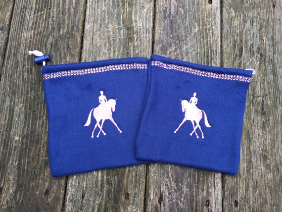 Dressage Rider Custom Stirrup Covers with Bling MANY COLOR Combinations
