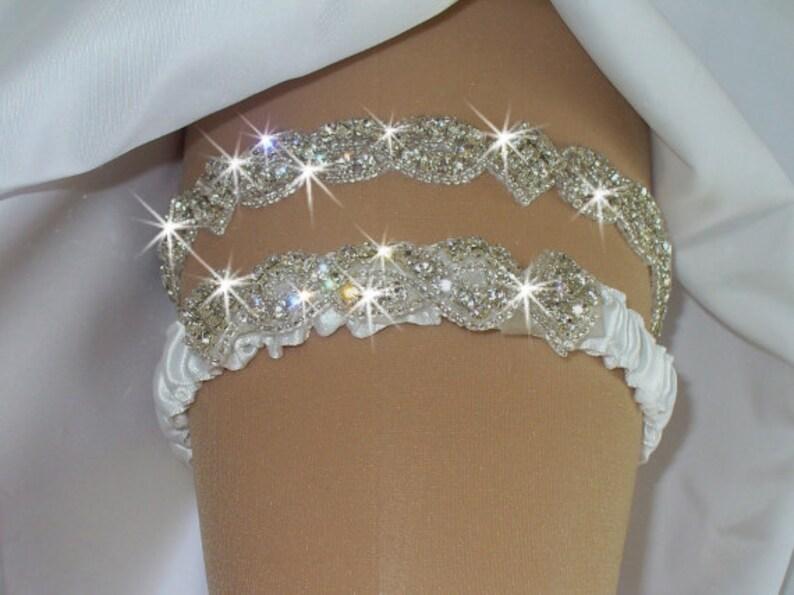 Garter Wedding Garter Set Bridal Garter Belts Bling Garter  64b686c51d79