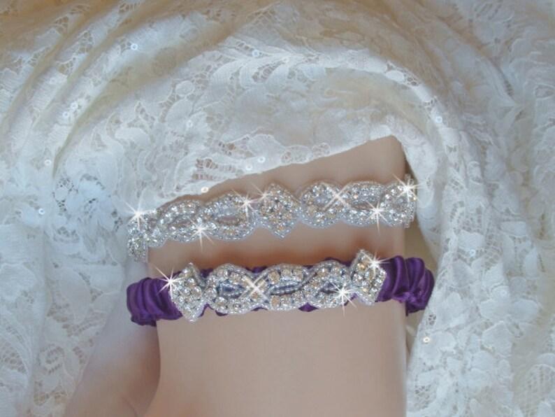 9db9f3b2551 Wedding Plum Wedding Garter Set Garter Belts Garters and