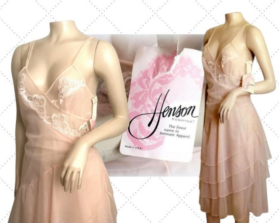 Vintage Sheer Designer Nightgown - HENSON KICKERN… - image 1