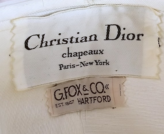 60s CHRISTIAN DIOR Turban - Vanilla Ice Ruched Or… - image 2