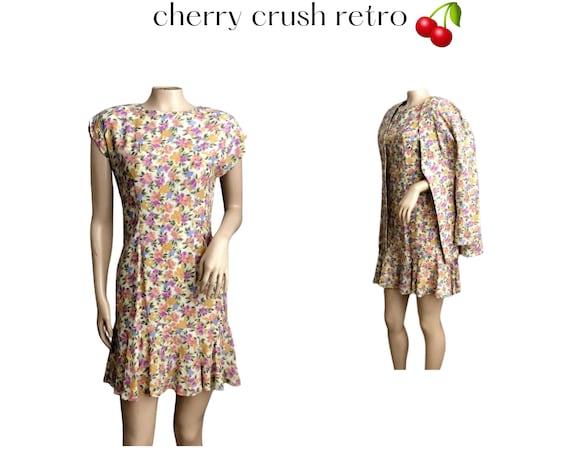 80s Does 60s - Mini Dress & Jacket - Pink Lavender