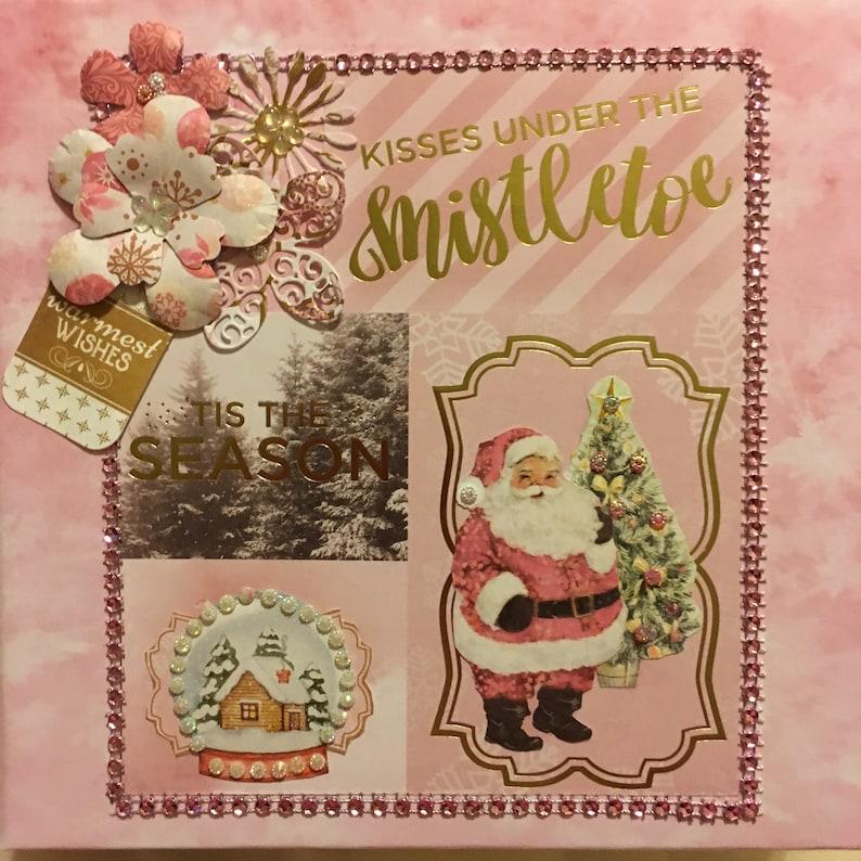 Kisses Under the Mistletoe 8x8 Scrapbook Album