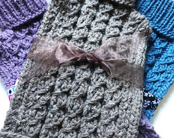 Hot Water Bottle Cozy, Hand Knit Cozy, Handmade Hot Water Bottle Cozy, Gift Idea, ThinkArtisan, Mother's Day Gift