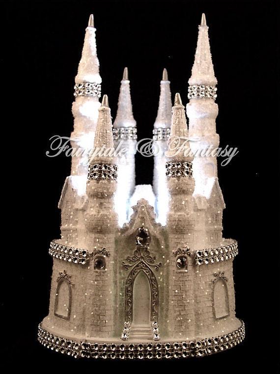 Bling Burg Hochzeitstorte Topper Disney Hochzeit Sweet 16 Etsy