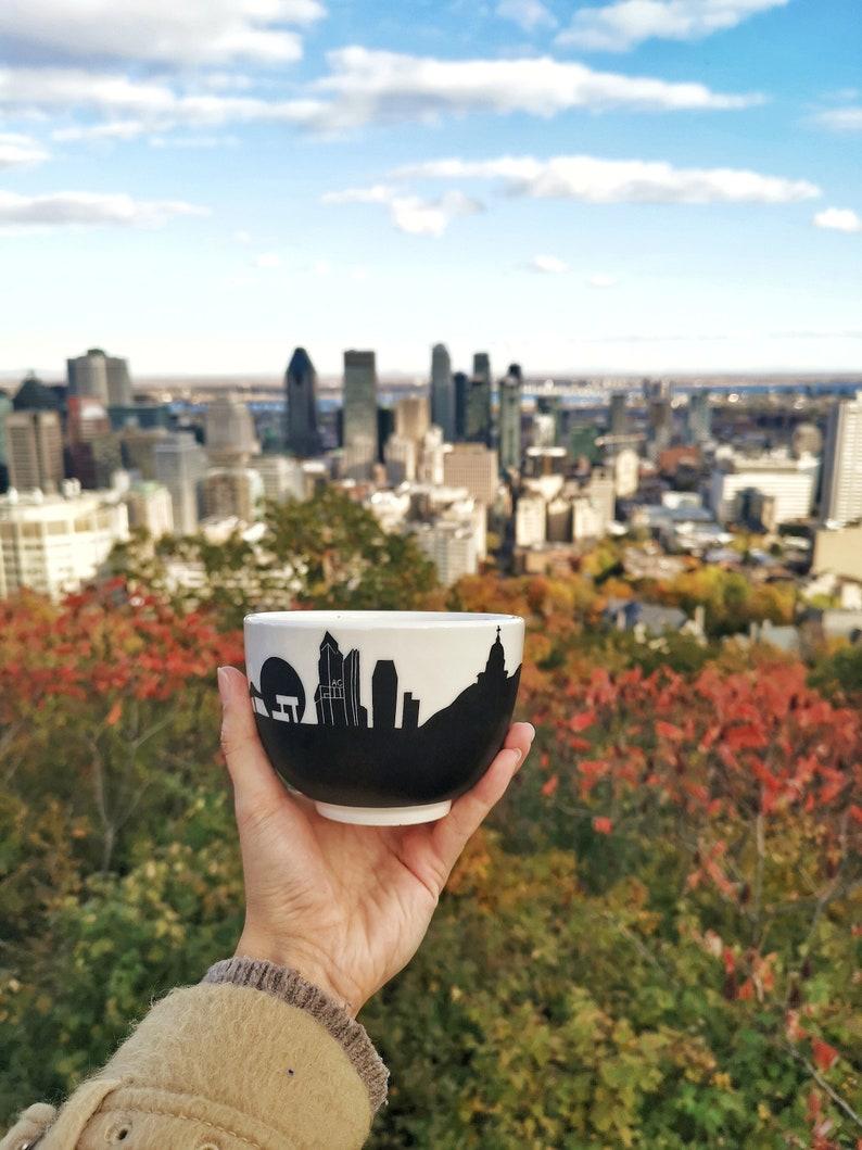Montreal chalkmug souvenir skyline mount royal st joseph image 0