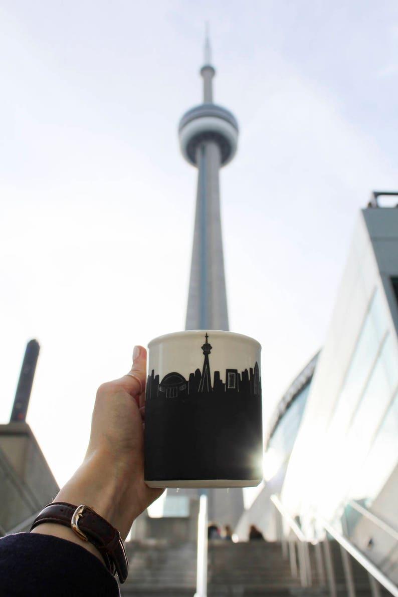 Toronto chalkmug souvenir skyline lighthouse islands CN tower image 0