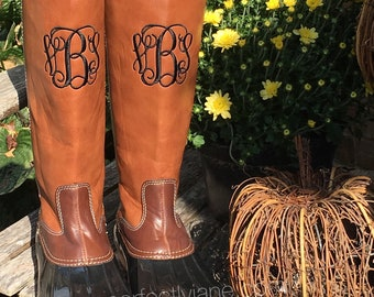 31ae4ea8be97 Monogrammed Tall Duck Boots - Monogram Duck Boots Women SALE