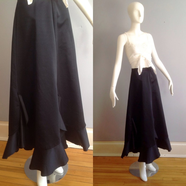 b517a0613 Vintage 70s High Waisted Formal Evening Party Skirt Long   Etsy
