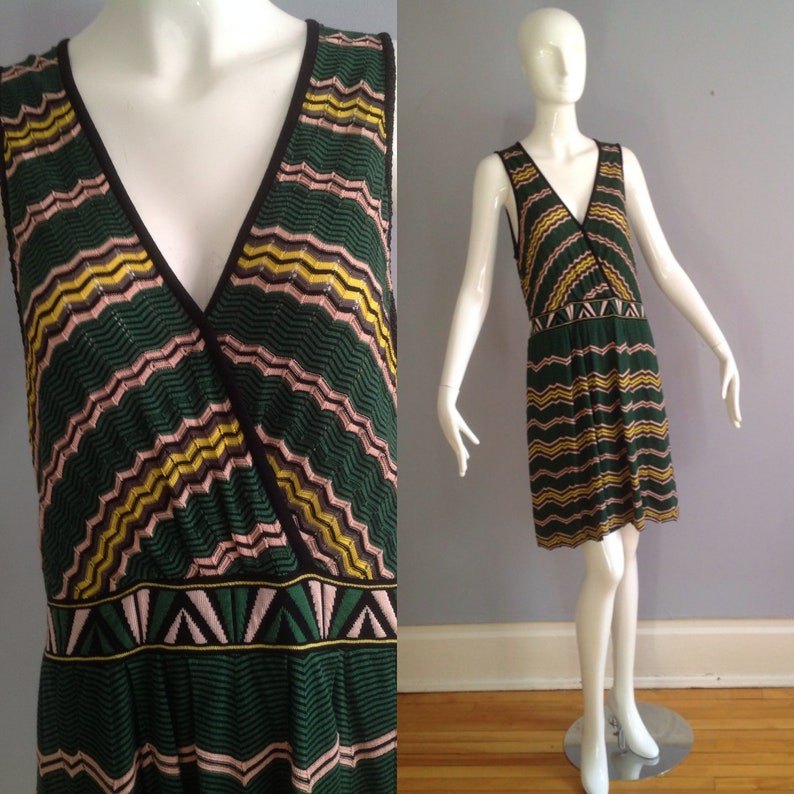 cf75ea1f9e2 Vintage MISSONI Modernist Knit Dress Made in Italy Striped