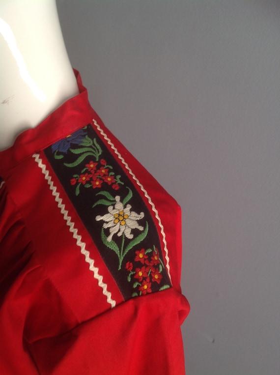 Vintage Hand Embroidered Peasant Blouse ~ Hungari… - image 9