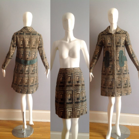 Vintage 60s Pierre Cardin Paris Mod Wool Coat and