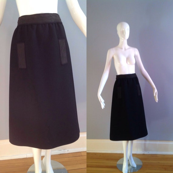 Vintage Andre COURREGES Numbered Space Age Wool Sk