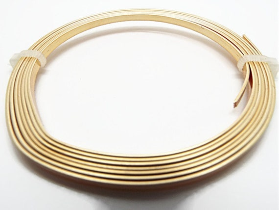 Gold Colored Copper Tape Wire Flat Gold Wire Gilt Flat Wire Etsy