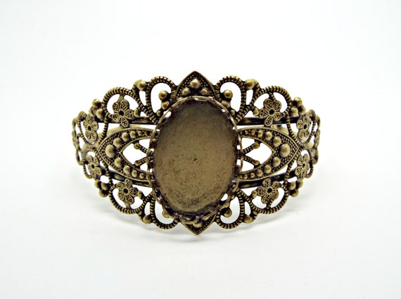 Gold 5//10pcs FILIGREE RING Adjustable Base Blank Silver Antique Bronze Finding