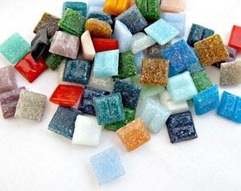 10mm Mosaic Tiles, 100 Mixed Tiles, Glass Mosaic Tiles, Mixed Colors, Mosaic Art, Craft Tiles, Mosaic Supplies, Craft Supplies, UK Seller