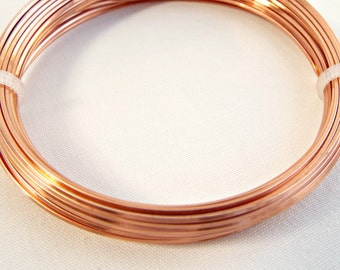 Square Wire, Copper Jewelry Wire, 20 Gauge Wire, 6 Metres, Wire Wrapping, Craft Wire, Jewelry Supplies, Wire Coil