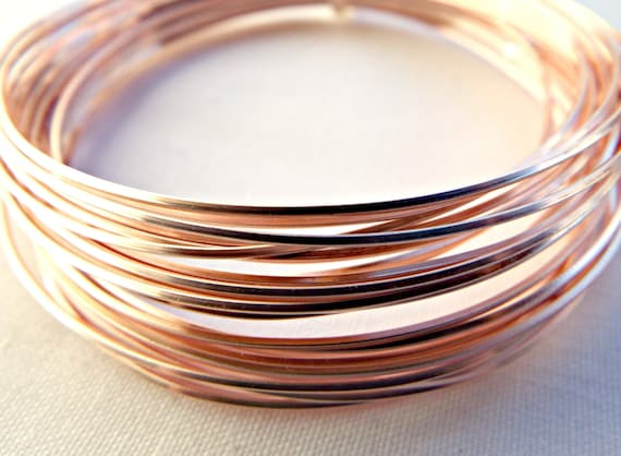Rose gold wire square wire 20 gauge wire colored copper wire 08 rose gold wire square wire 20 gauge wire colored copper wire 08mm wire wire wrapping jewelry wire craft wire wire coil uk seller from keyboard keysfo Images