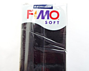454g/350g Polymer Clay, Black Fimo Clay, Large Fimo Block, Fimo Soft, Modelling Clay, Jewelry Clay, Modelling Clay, UK Seller