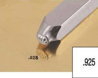 925 Silver Stamp, 1.5mm Stamp, Metal Punch, Impress Art, .925 Punch, Jewelry Stamp, Metalwork Tool, Hand Stamping, Design Stamp, UK Seller
