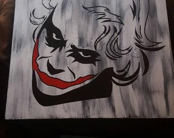 Joker Wall Decor Etsy