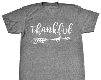 Thankful Equestrian Boho Style Horse T-Shirt - Long or Short Sleeve in Vintage Heather Colors