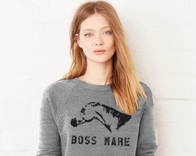 Featured listing image: The Boss Mare Heather Gray Sweatshirt