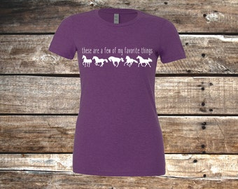 These are a Few of My Favorite Things Relaxed Fit Womens T-Shirt,  Heather Purple