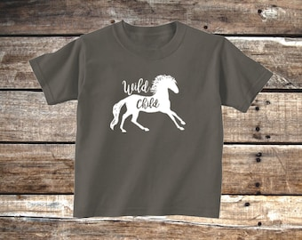 Wild Child Toddler T-Shirt, Charcoal Gray