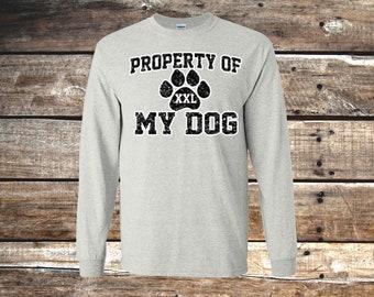 Property of My Dog Unisex T-Shirt, Short or Long Sleeve