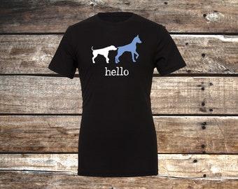 Hello Dog Unisex T-Shirt, Black