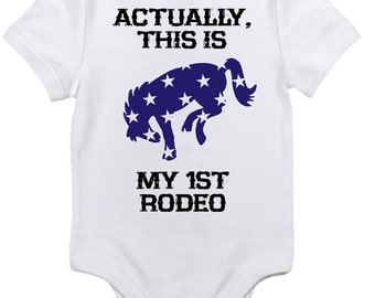 First Rodeo Baby Onesie for Boys
