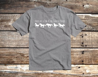 These are a few of my favorite things Youth Equestrian T-Shirt for Horse Lovers