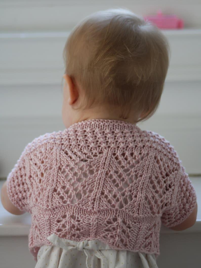 Ailey baby bolero knitting pattern Download | Etsy