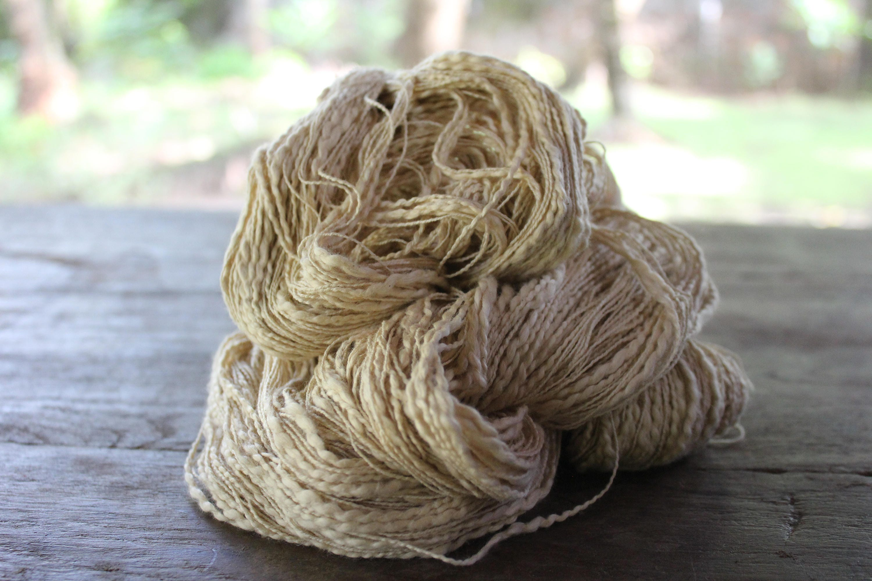 Organic Slub Cotton Yarn Pastel Beige 17 Novelty Yarn 100 Etsy