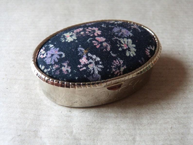 Pretty fabric topped Pill Box
