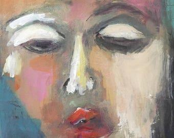 "Acrylic painting ""Triste"" #589"