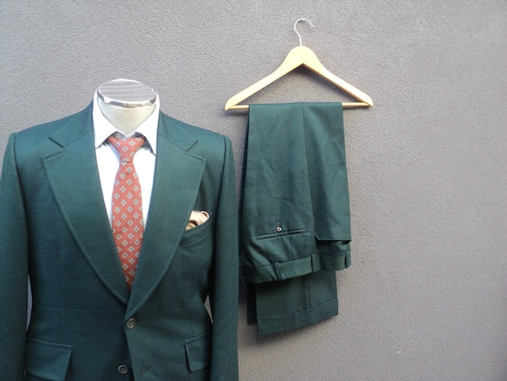 1970s Custom Made Two Piece Suit / Mens 2 Piece G… - image 1