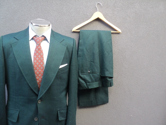 1970s Custom Made Two Piece Suit / Mens 2 Piece G… - image 5
