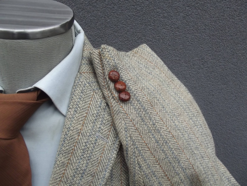 1960s Palm Beach Tweed Jacket  60s Vintage Wool Tweed Blazer Jacket  Sport Coat  Size 40R  Medium  Med  Made in USA  Town and Country
