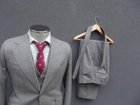 1970s Vintage 3 Piece Suit, 70s Vintage Three Piec