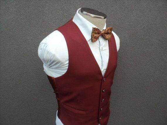 1970s Vintage Mens Vest / Mens Waistcoat Size 40 M