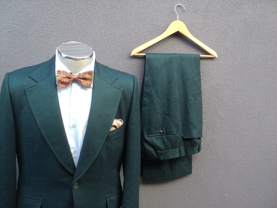 1970s Custom Made Two Piece Suit / Mens 2 Piece G… - image 2