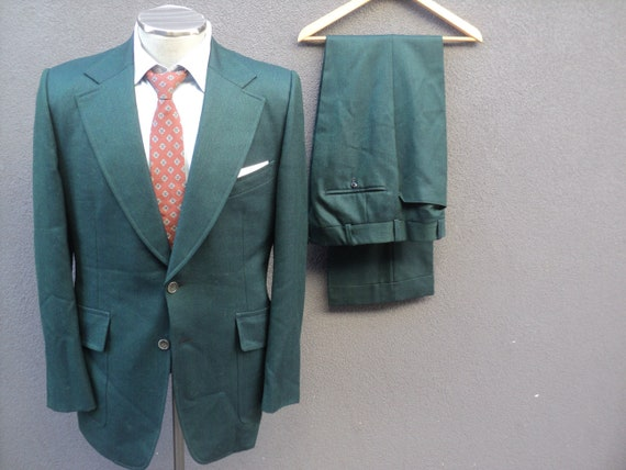 1970s Custom Made Two Piece Suit / Mens 2 Piece G… - image 8