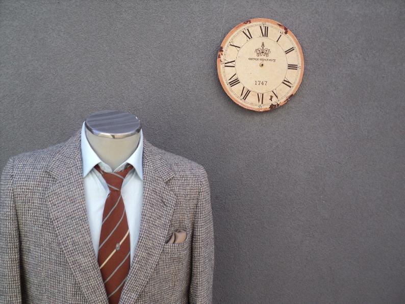 1980s HARRIS TWEED Jacket  100/% Virgin Scottish Wool Sport Coat  Vintage Gray Tweed Blazer Size 42 Tall  42 Long  Union Made in Canada