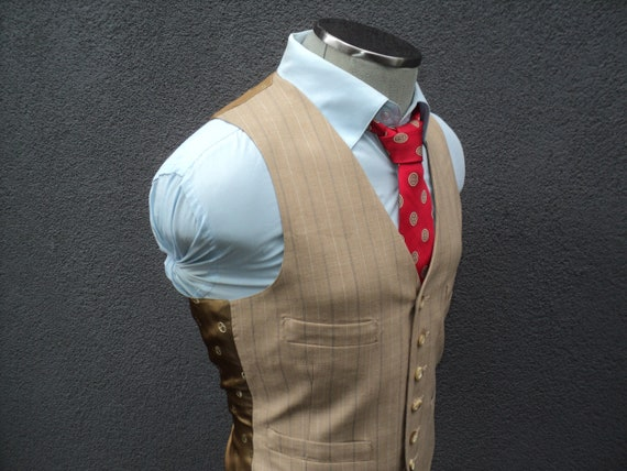 1970s Mens Vest / Mens Waistcoat / Dress Vest / Of