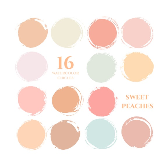 Sweet Peaches Instagram Story Highlight Icons Pastel Neutrals Etsy